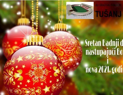 Sretan Božić stadion Tušanj